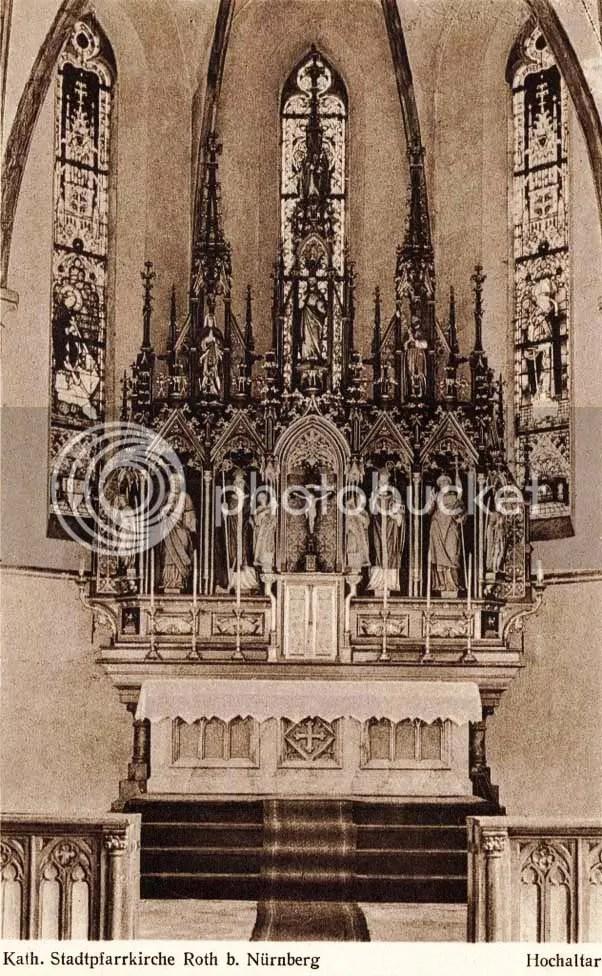 Katholische Stadtpfarrkirche Roth bei Nürnberg, Hochaltar 1913, Katholische Pfarrei Roth Maria Aufnahme in den Himmel