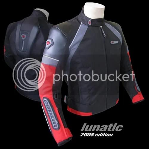 jaket motor lunatic merah