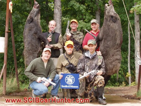 The whole crew from Smith & Wesson Russian Boar Hunting