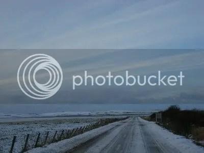 Orkney road in Winter