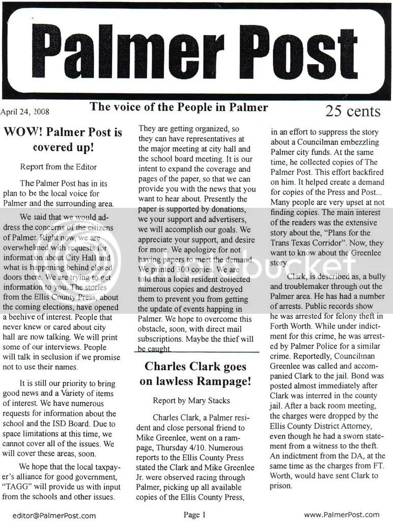 Palmer Post 2008