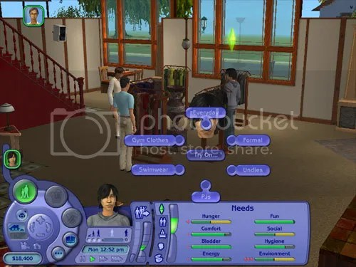 Sims 2 screenshot - actions and decisions