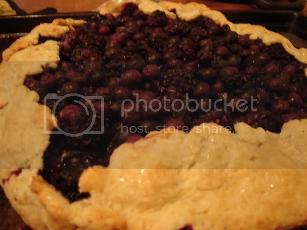 blueberry and blackberry galette