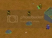 Despite what it might look like, I am most certainly not running away in this C64 shot
