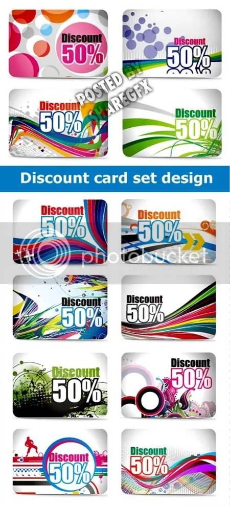 Discount card set design