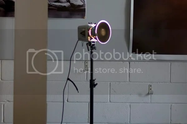 spot light, to give off a halo effect behind the subject