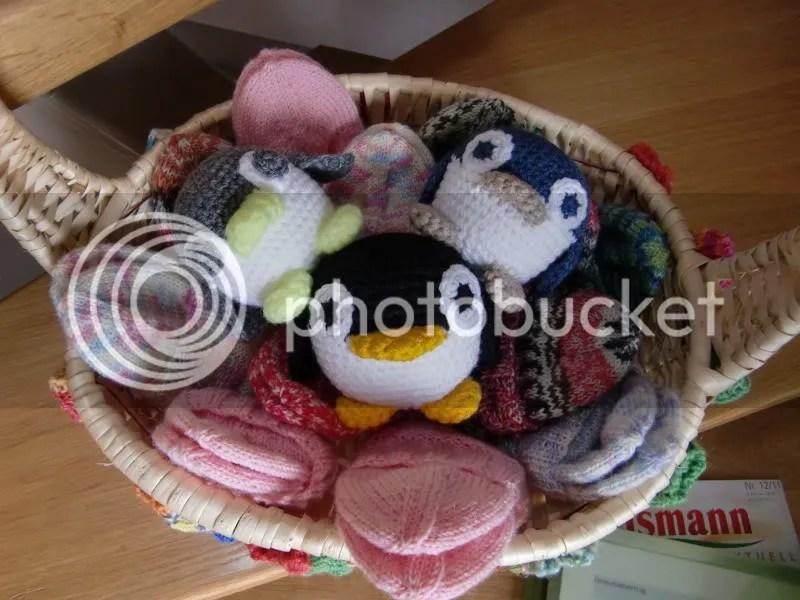 Söckchen für Kleinkinder und gehäkelte Pinguine (1/5)
