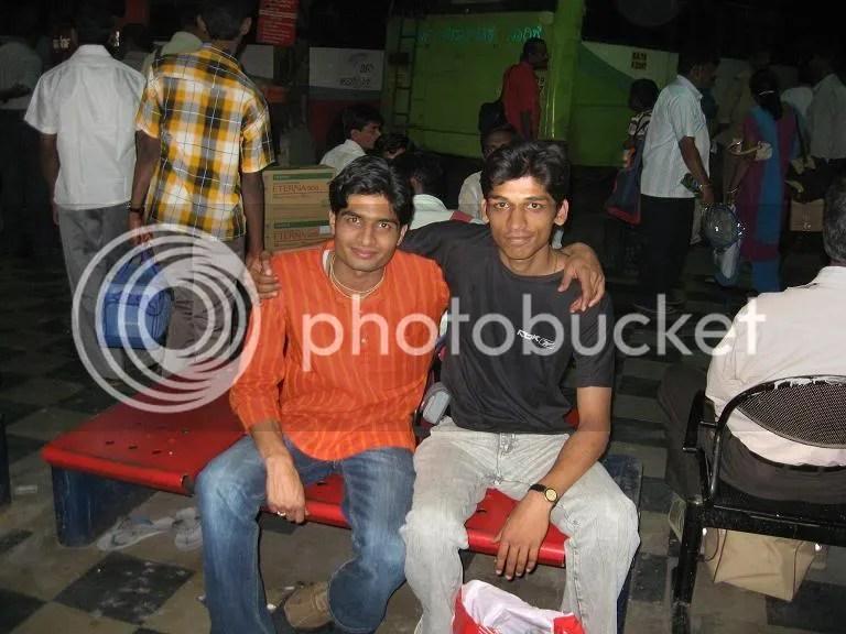 Antriksh & Myself(Piyush) at Majestic Banglore