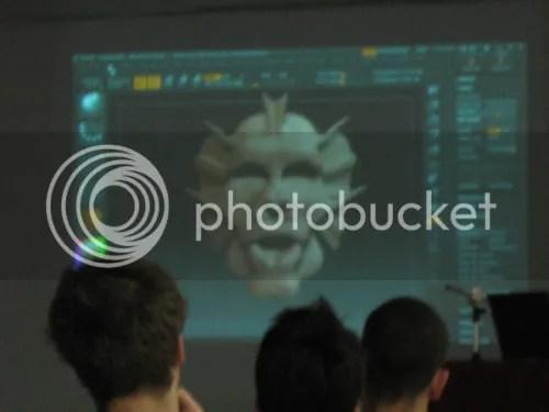 Modelo tridimensional desenvolvido durante a palestra