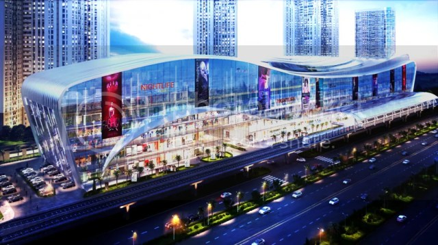 Tòa nhà Vincom Mega Mall được xem là quy mô lớn nhất phía Đông thành phố, đứng sừng sững phía trước, được ví như một ngôi sao sáng giữa quần thể Masteri, với diện tích sàn lên đến hơn 120.000m2 sàn, nằm vươn mình gần 450m, nơi sẽ tập trung các khu mua sắm cao cấp, nhà hàng, café, rạp chiếu phim, khu giải trí, khu văn phòng hiện đại…