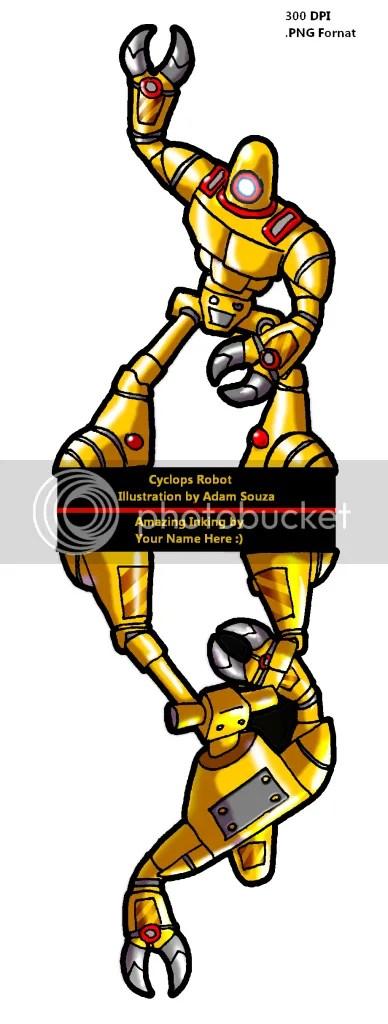 Cyclops Robot Recolor