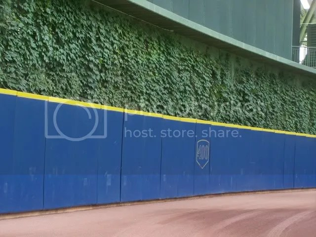 The outfield wall