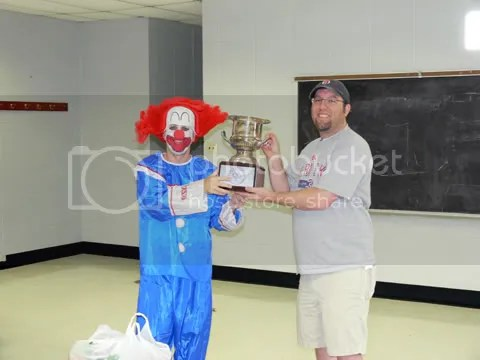 Getting the trophy for winning in 2008