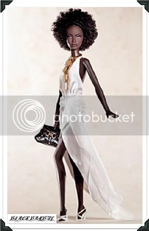 Black Barbie in White