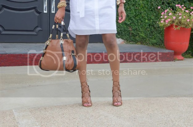 j. crew factory dress, shirt dress, white dress, little white dress, spring dresses, lace up sandals, bcbgeneration sandals, statement bag, deny handbag, aviators, dallas blogger, dallas fashion blogger, fashion blogger, fashion, style diaries, lookbook, black fashion blogger, detroit blogger, mommy blogger, dallas, arm party