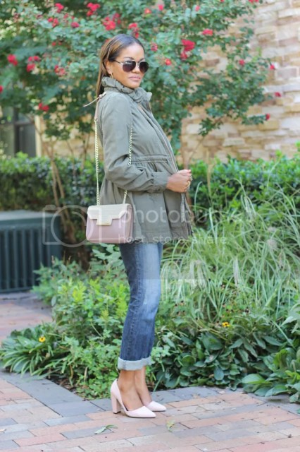 olive green trend, utility jacket trend, military trend, just fab louina, nude pumps, how to wear utility jacket, dallas blogger, fashion blogger, black fashion blogger, detroit blogger, what to wear on weekend, what to wear, fall fashion