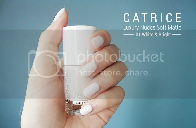 Catrice Luxury Nudes Soft Matte White & Bright Nail Polish