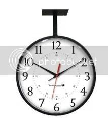 Black Hanging Clock IW-2