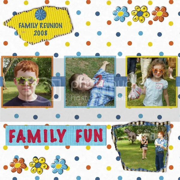 Silly Summer Fun Layout