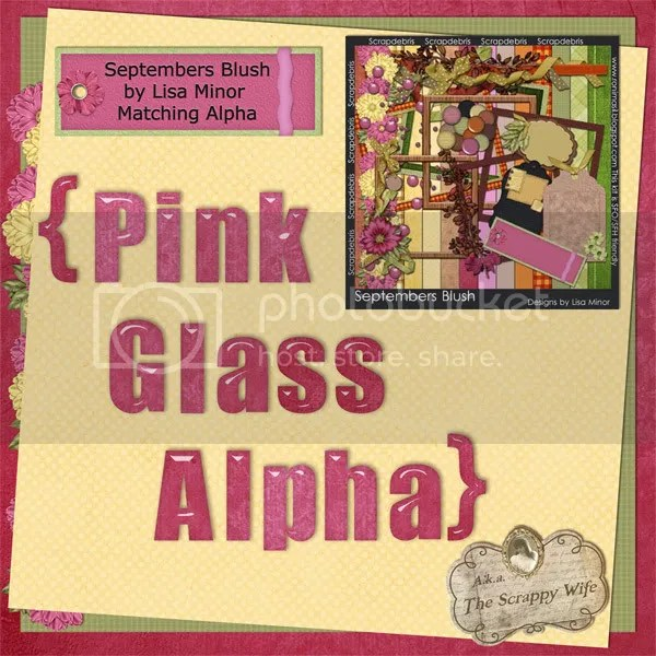 Septembers Blush Pink Glass Alpha