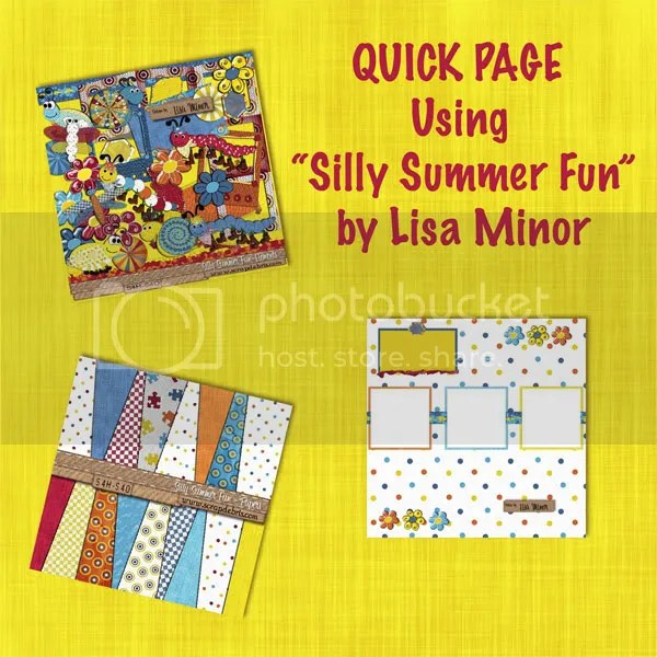 Silly Summer Fun Quick Page Freebie