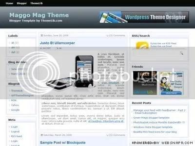 Maggo magazine blogger template