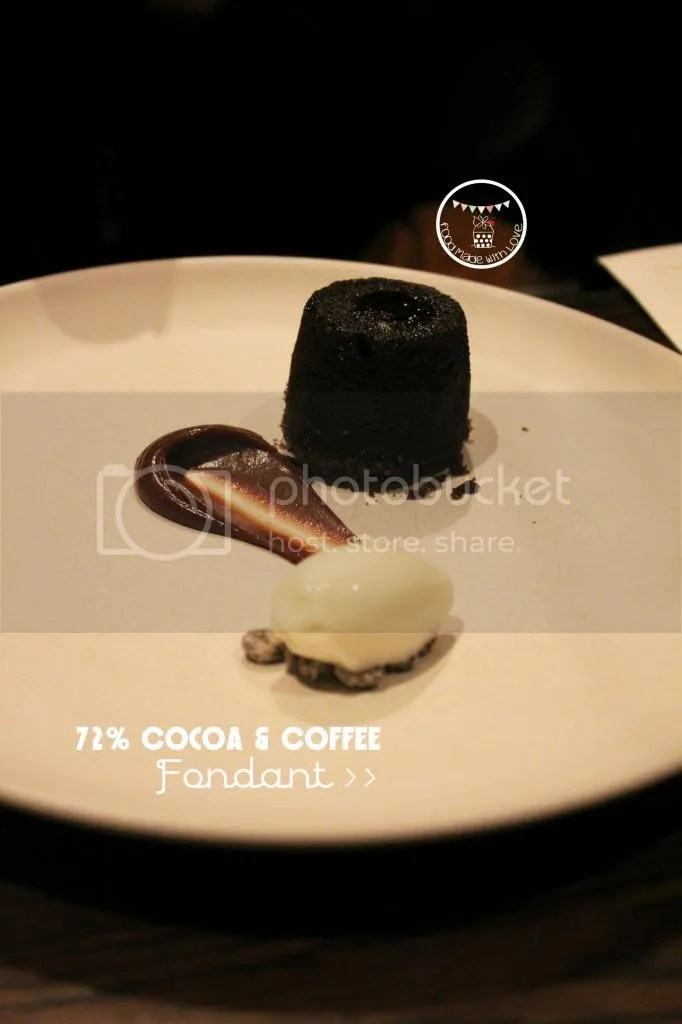 72% Cocoa and coffee fondant