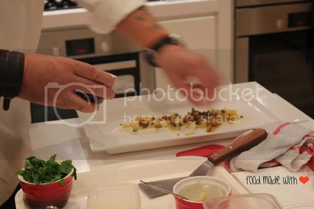 Plating the dish up