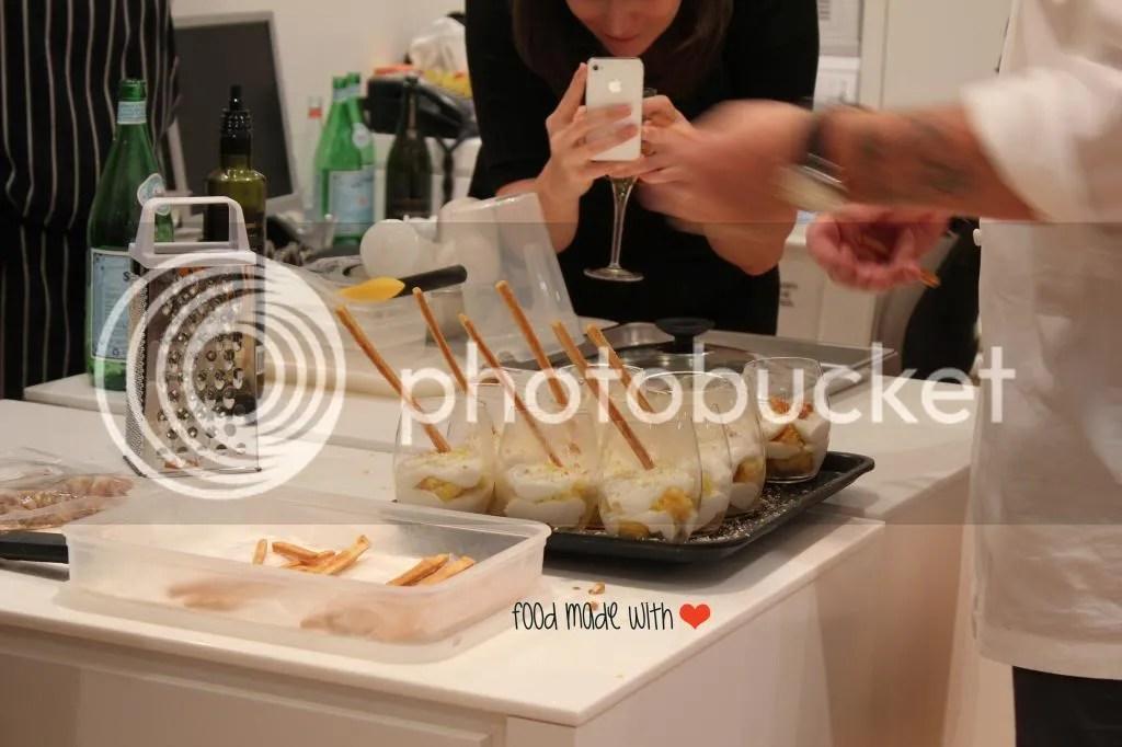 plating the desserts