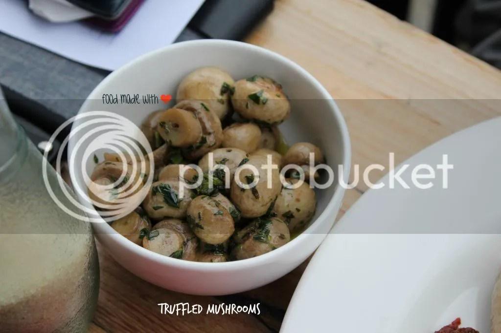 side : truffled mushrooms