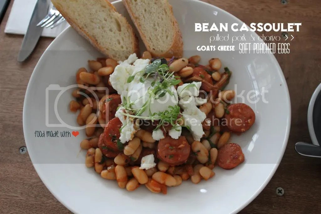 Bean cassoulet with pulled pork and chorizo