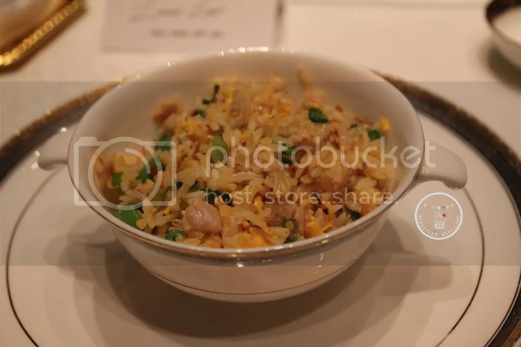 chicken fried rice with XO sauce