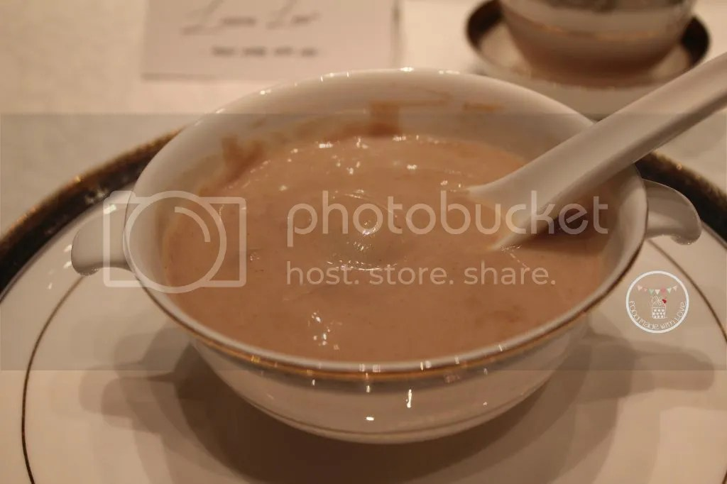 Sweetened walnut soup with glutinous rice ball