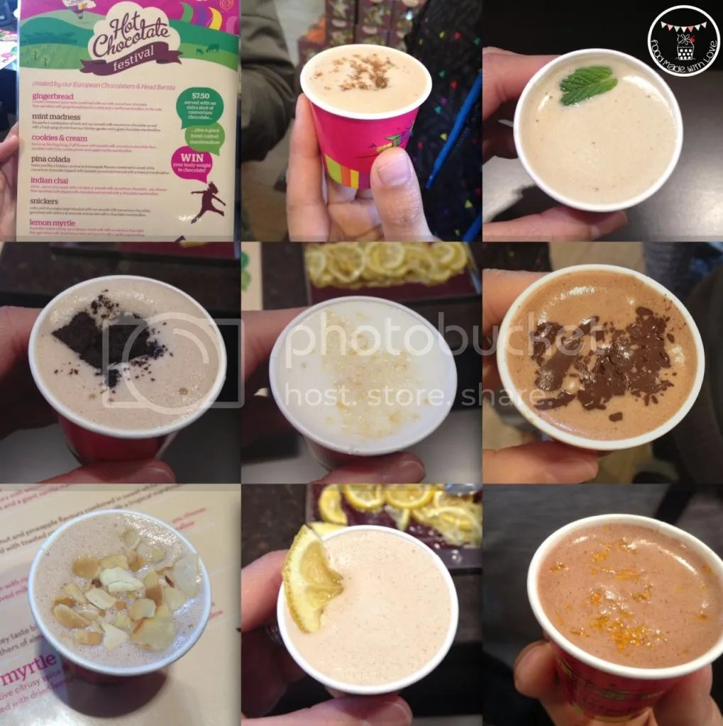 8 flavours that we tried