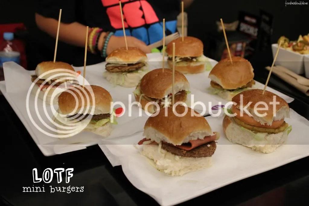 LOTF mini burgers