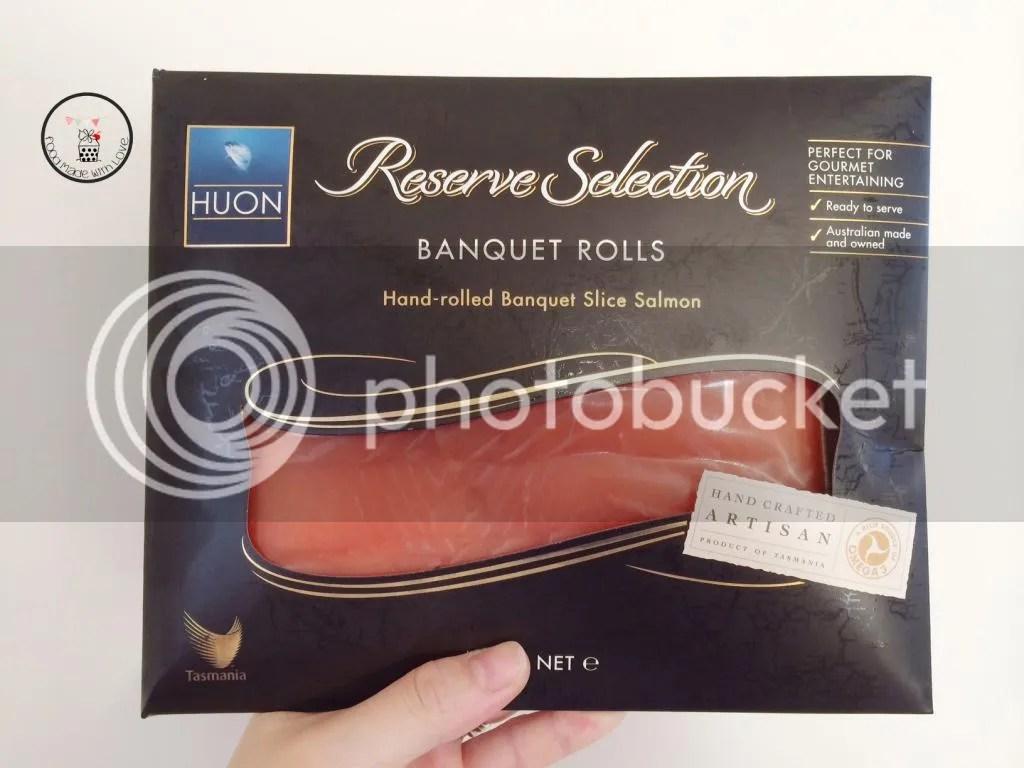 HUON smoked salmon banquet rolls
