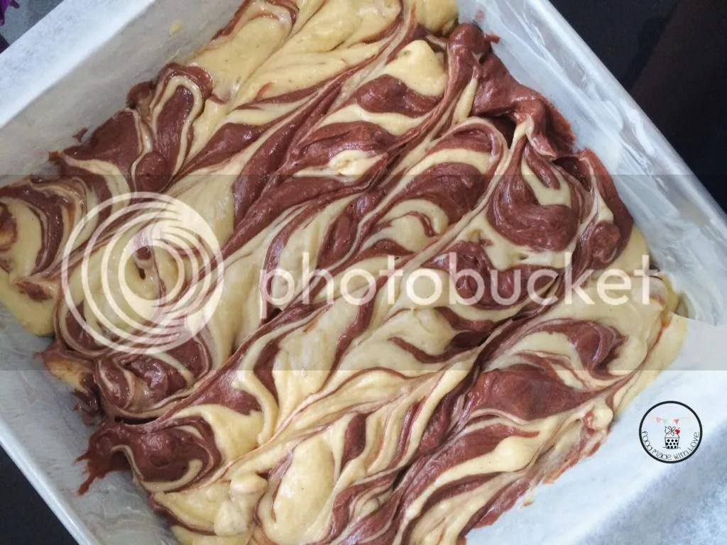 Swirled cake