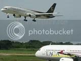 UPS B757 segundos antes de aterrizar en EL Salvador