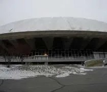 The outside of Assembly Hall in Champaign, IL