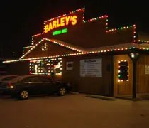 Barleys American Grill on Miller Road decorated for Christmas