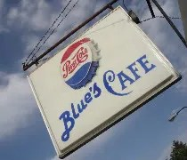 Blues Cafe on Station Street in Kankakee, IL