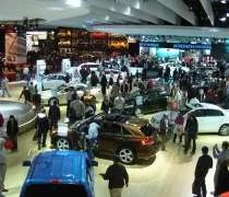 A birdseye view of the Cobo Center show floor during the NAIAS