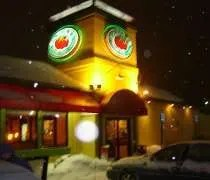 Fazolis on South Cedar in Lansing...sorry about the focus...it was snowing really hard.
