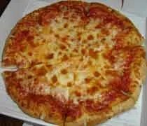 A small cheese pizza from Jets Pizza in Lansing