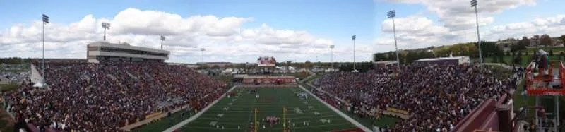 Panoramic view of Kelly/Shorts Stadium at Central Michigan