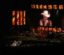 Kenny Chesney on stage at Soldier Field in Chicago