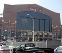 The new Lucas Oil Stadium in Indianapolis