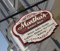 Marthas Sweet Shop in downtown Mackinac Island.