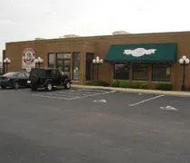 Monicals Pizza in Gilman, IL about 40 miles north of Champaign.