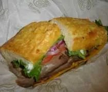 Asiago Roast Beef sandwich from Panera Bread